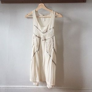 Free people white beaded dress/shirt